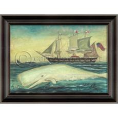 White Whale ACK Sails II Framed Art by Kolene Spicher