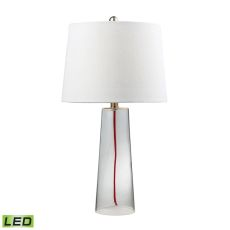 Clear Glass Led Table Lamp With Red Cord