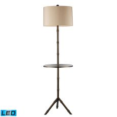 Stanton Led Floor Lamp In Dunbrook Finish With Glass Tray