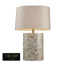 Trump Home Sunny Isles Table Lamp In Genuine Mother Of Pearl