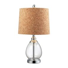 Clear Glass Table Lamp In Polished Chrome