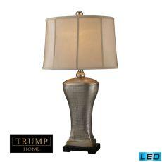Trump Home Lexington Avenue Led Table Lamp In Silver Lake Finish