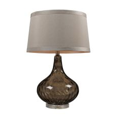 Water Glass Table Lamp Coffee Smoke With Taupe Shade