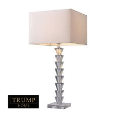 Trump Home Fifth Avenue Table Lamp In Clear Crystal