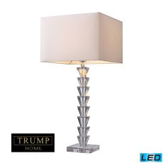 Trump Home Fifth Avenue Led Table Lamp In Clear Crystal