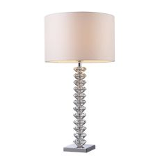 Modena Solid Clear Crystal Table Lamp