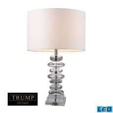 Trump Home Madison Led Table Lamp In Clear Crystal