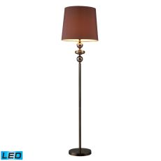 Dravos Glass Led Floor Lamp In Bronze And Coffee Plating