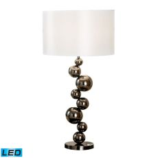 Cleona Led Table Lamp In Black Chrome With Milano Pure White Shade