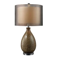 Brockhurst Table Lamp In Francis Fawn Finish With Bronze Organza Shade