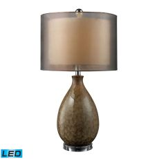 Brockhurst Led Table Lamp In Francis Fawn Finish With Bronze Organza Shade