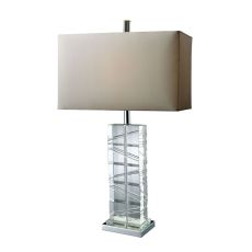 Avalon Table Lamp In Clear Crystal And Chrome