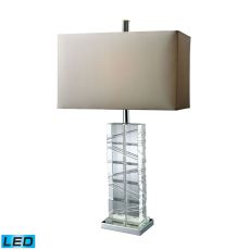 Avalon Led Table Lamp In Clear Crystal And Chrome