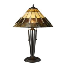 Porterdale 2 Light Table Lamp In Tiffany Bronze