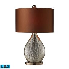 Sovereign Led Table Lamp In Antique Mercury And Coffee Plating