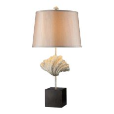 Edgewater Table Lamp In Oyster Shell And Dark Bronze