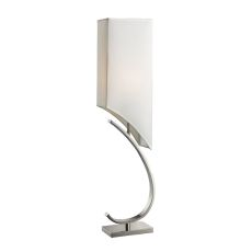 Appleton Table Lamp In Polished Nickel With Pure White Shade