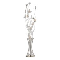 Cyprus Grove Floor Lamp In Satin Nickel