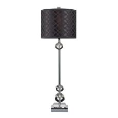 Chamberlain Table Lamp In Chrome And Clear Crystal With Laser Cut Shade