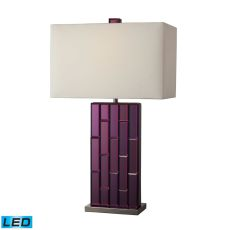 Avalon Led Table Lamp In Purple Mirror And Black Nickel
