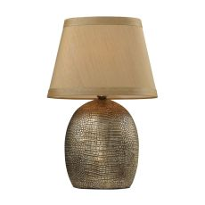 Gilead Table Lamp With Alligator Texture Base In Meknes Bronze