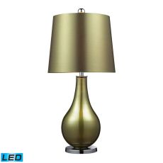 Dayton Led Table Lamp In Sigma Green And Polished Nickel