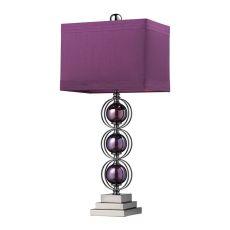 Alva Contemporary Table Lamp In Black Nickel And Purple