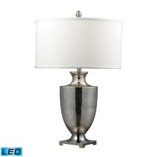 Langham Led Table Lamp In Antique Mercury Glass And Polished Chrome