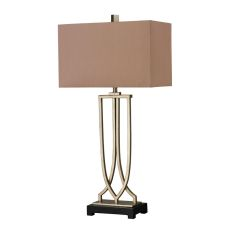 Free Form Iron Table Lamp In Antique Silver Leaf Finish