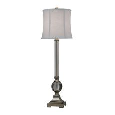 Corvallis Buffet Lamp In Polished Nickel And Clear Finish