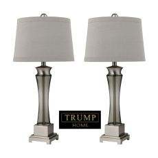 Trump Home Onassis Table Lamps In Nickel Finish - Set Of 2