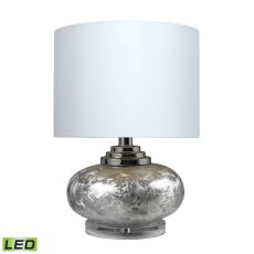 Frosted Finish Ceramic Led Table Lamp With White Shade