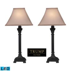 Trump Home Woodbury Led Table Lamps In Brown - Set Of 2