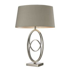 Hanoverville Table Lamp In Polished Nickel