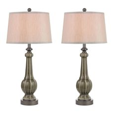 Sailsbury Table Lamps In Georgia Grey Glaze - Set Of 2