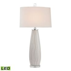Andover Ceramic Led Table Lamp In Washington White