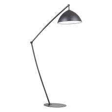 Industrial Elements Adjustable Floor Lamp In Matte Black