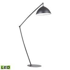 Industrial Elements Adjustable Led Floor Lamp In Matte Black