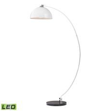 Cityscape Adjustable Led Floor Lamp In White And Black