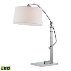 Assissi Adjustable Led Table Lamp In Polished Nickel