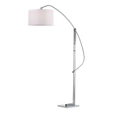 Assissi Adjustable Floor Lamp In Polished Nickel