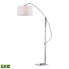 Assissi Adjustable Led Floor Lamp In Polished Nickel