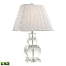 Downtown Solid Clear Crystal Led Table Lamp