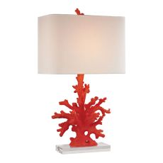 Red Coral Table Lamp In Red