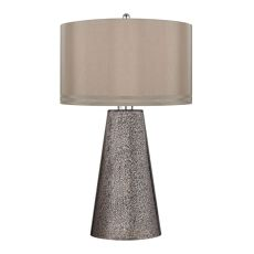 Stafford Table Lamp In Heavy Metal Mercury Mosaic Finish