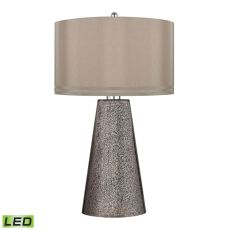 Stafford Led Table Lamp In Heavy Metal Mercury Mosaic Finish