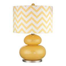 Tavistock Table Lamp In Sunshine Yellow And Polished Nickel