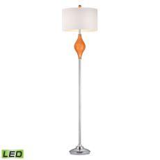 Chester Glass Led Floor Lamp In Tangerine Orange