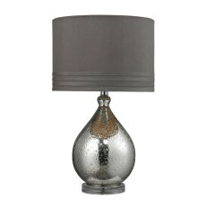 Bubble Glass Table Lamp In Mercury Plate Finish