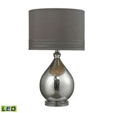 Bubble Glass Led Table Lamp In Mercury Plate Finish